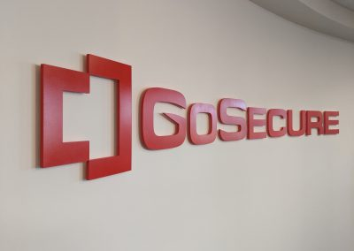 Go Secure Lobby Sign