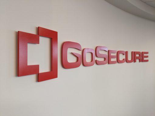 Go Secure Lobby Sign